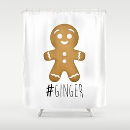 #Ginger Shower Curtain