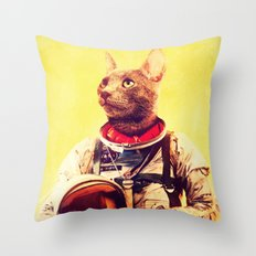 Captain Cat Throw Pillow