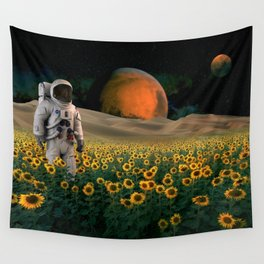 The Sunflower Field Wall Tapestry
