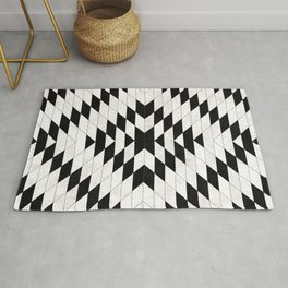 Urban Tribal Pattern No.15 - Aztec - White Concrete Rug