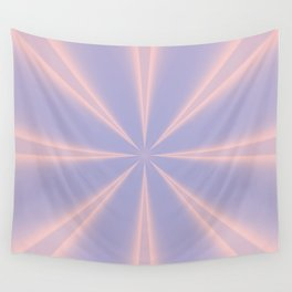 Fractal Pinch in Rose Quartz and Serenity Wall Tapestry