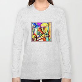 Untiled watercolour by Jennifer Henderson Long Sleeve T-shirt