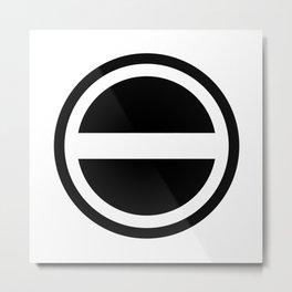 Curtis Holt Logo (Black) Metal Print