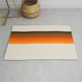 Retro Golden Rainbow - Straight Rug