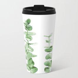 Eucalyptus leaves. Metal Travel Mug