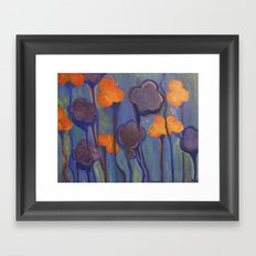 Flowered Atmosphere Framed Art Print