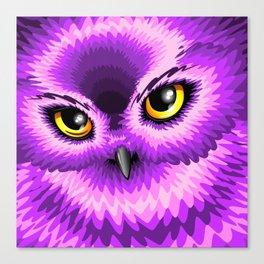 Pink Owl Eyes Canvas Print