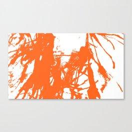 Orange Ink Canvas Print