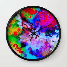 Space Marble Wall Clock