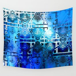1001 Lights Pattern (azure-lapis-sky) Wall Tapestry