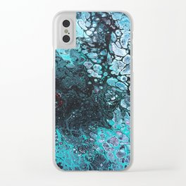 Acrylic pour 1 Clear iPhone Case