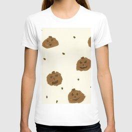 Hand Painted Pumpkins Sepia T-shirt