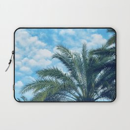 Big Blue Sky, Puffy Clouds, and Palm Trees Laptop Sleeve