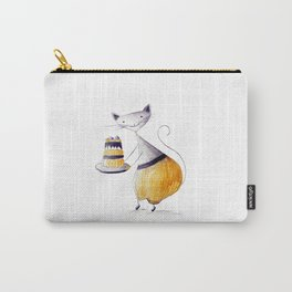 Greedy Cat Carry-All Pouch