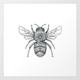 Bumble Bee Mandala Tattoo Art Print