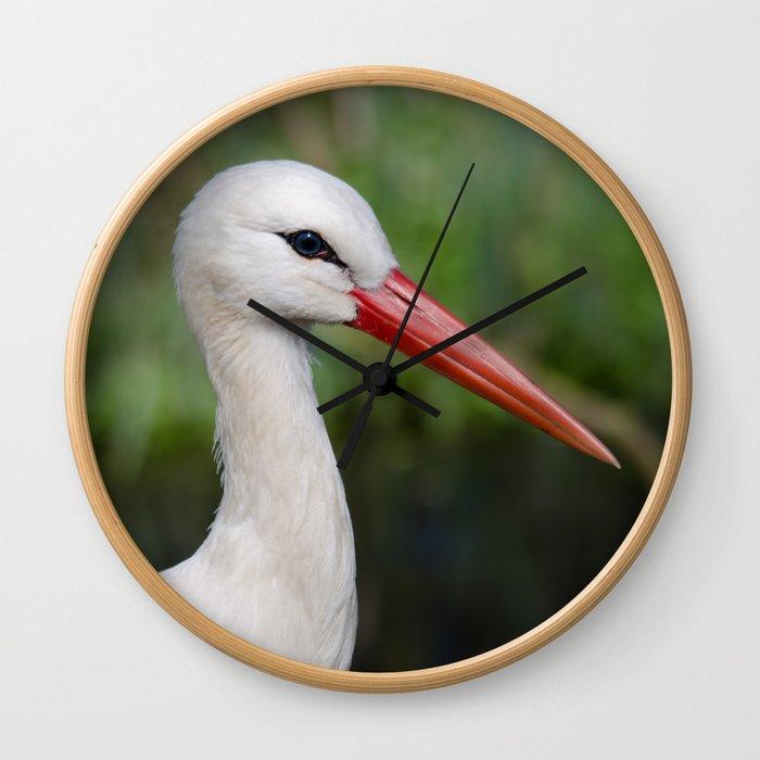 White stork Wall Clock