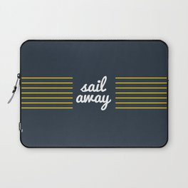 Sail Away Nautical Print Laptop Sleeve