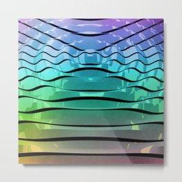 Rainbow Waves Metal Print