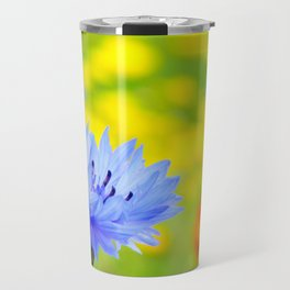 Bachelor's Buttons Flower Travel Mug