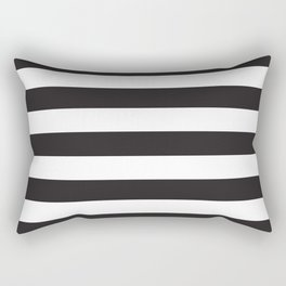 Black and White Stripes Rectangular Pillow