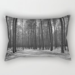 Sunny path in pine forest Rectangular Pillow