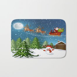 Christmas Scene Bath Mat