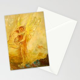 """Odilon Redon """"Jacob Wrestling with the Angel"""" Stationery Cards"""