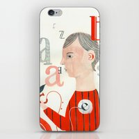 letters iPhone & iPod Skins featuring LETTERS by Sara Stefanini