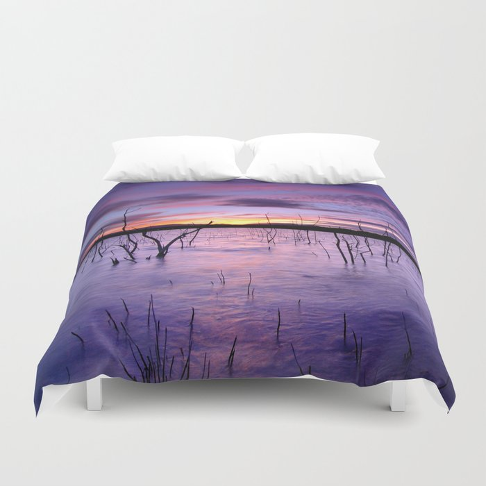 Purple waters Duvet Cover