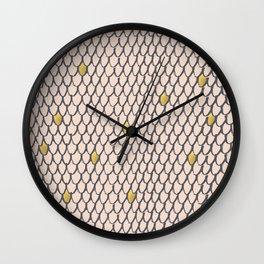 Baesic Golden Mermaid Scales Wall Clock