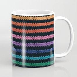 Knitted rainbow Coffee Mug