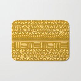 Mud Cloth on Mustard Bath Mat