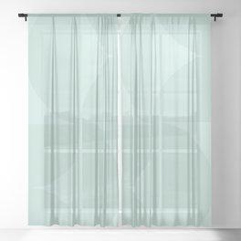 Monochromatic Minimalism - Sage Green Sheer Curtain