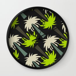 Retro palm tree decor Wall Clock