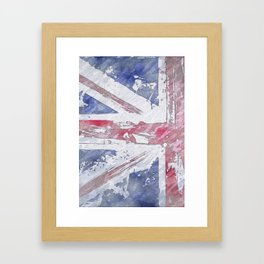 Rustic Union Jack Flag Framed Art Print