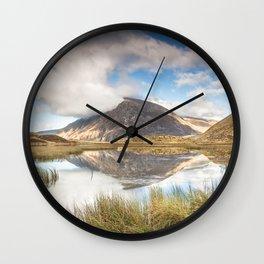 Pen yr Ole Wen Reflections Wall Clock