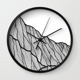 Rock lines Wall Clock