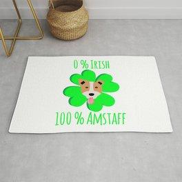 0 Percent Irish 100 Percent Amstaff Dog Lovers St. Patrick's Rug