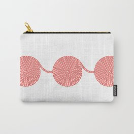 Yacht style. Rope spirals. Red & white. Carry-All Pouch