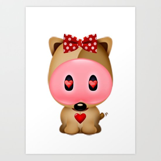 Love Bear Art Print