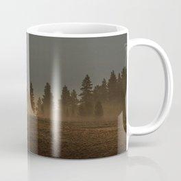 Misty Mountain Morning  // Golden Fog on the Pine Coffee Mug