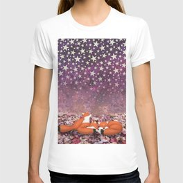 foxes under the stars T-shirt
