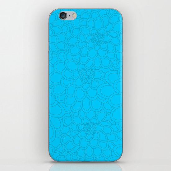 Flowers tone on tone.  iPhone & iPod Skin