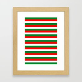 algeria Lebanon Oman flag stripes Framed Art Print