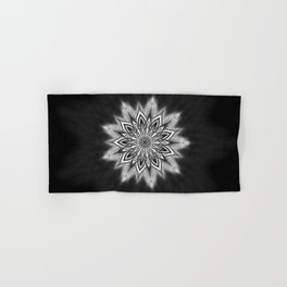 Black Ice Mandala Swirl Hand & Bath Towel