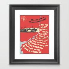 Resan med spårvagn 11 Framed Art Print