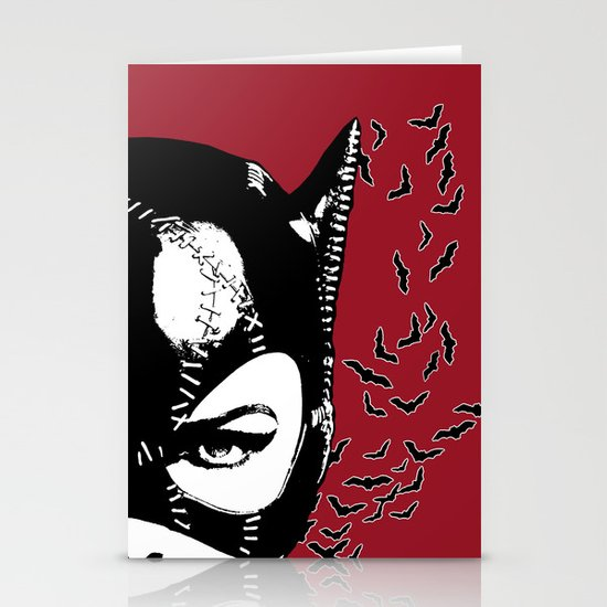 Red Catwoman Stationery Cards