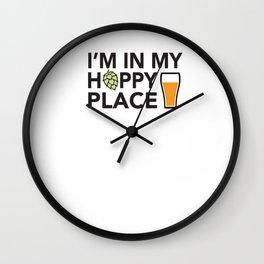 I'm in My Hoppy Place Wall Clock