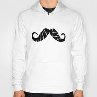 moustache Hoodies featuring Moustache by creativecam