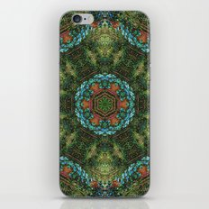Tropical vine mandala iPhone & iPod Skin
